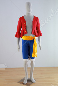 TranTrip ONE PIECE New World Monkey D. Luffy Cosplay Costume
