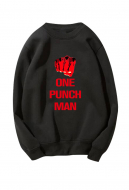 One Punch Man Printed Round Neck Sweater Sweatshirt Style II Cosplay Costume