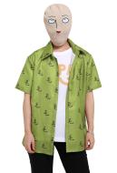 One Punch Man Season 2 Saitama OPPAI T-shirt Cosplay Costume