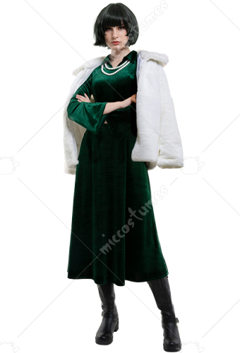 One Punch Man Blizzard of Hell Jigoku no Fubuki Cosplay Costume Dress and Coat