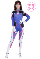 Overwatch D.Va Hana Song Cosplay Costume Jumpsuit Bodysuit