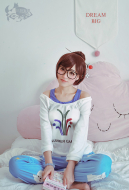 Delusion Overwatch Mei Cospaly Pajamas