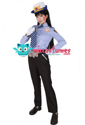 Overwatch Officer D.Va Cosplay Costume