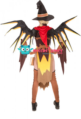 Overwatch Witch Mercy Cosplay Costume for Halloween with Wings