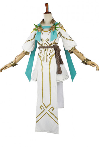Overwatch OW Summer Games 2017 Winged Victory Mercy Skin Cosplay Costume Including the Headdress