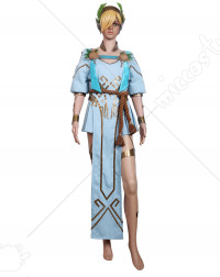 Overwatch Angel Summer Games Mercy Winged Victory Cosplay Costume