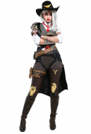 Overwatch Ashe The Viper Cosplay Costume Fullset
