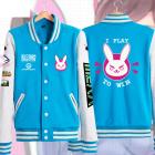 [Free US Economy Shipping] Overwatch DVA Hana Song Rabbit Coat Baseball Jacket Daily Fashion Cosplay Costume