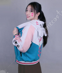 Overwatch DVA Costume de Cosplay Hana Song Veste à Capuche Quotidienne