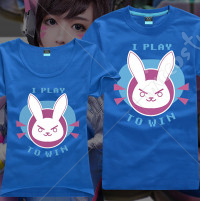 [Free US Economy Shipping] Overwatch Dva Hana Song Cute Daily Shirt Short Sleeves Chibi T Shirt