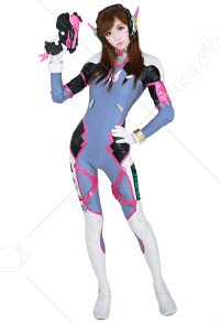 Overwatch D.Va Hana Song Cosplay Costume Cosplay Jumpsuit Bodysuit