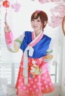 Overwatch D.VA Hana Song Hanbok Palanquin Skin Cosplay Costume