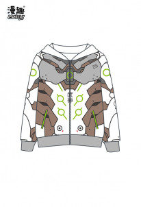 Manchy Game Overwatch Genji Cosplay Costume Hooded Sweatshirt