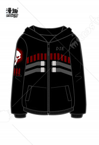 Manchy Overwatch Reaper Cosplay Costume Hoodie