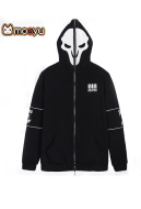 Moeyu Overwatch Reaper Long Sleeves Unisex Hooded Jacket Cosplay Costume