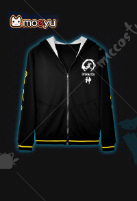 Moeyu Overwatch Genji Shimada Zip-Up Hoodie Cosplay Costume