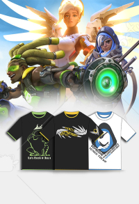 Moeyu Overwatch Mercy Angela Ziegler Ana Amari Lucio Short Sleeve T-shirt Cosplay Costume