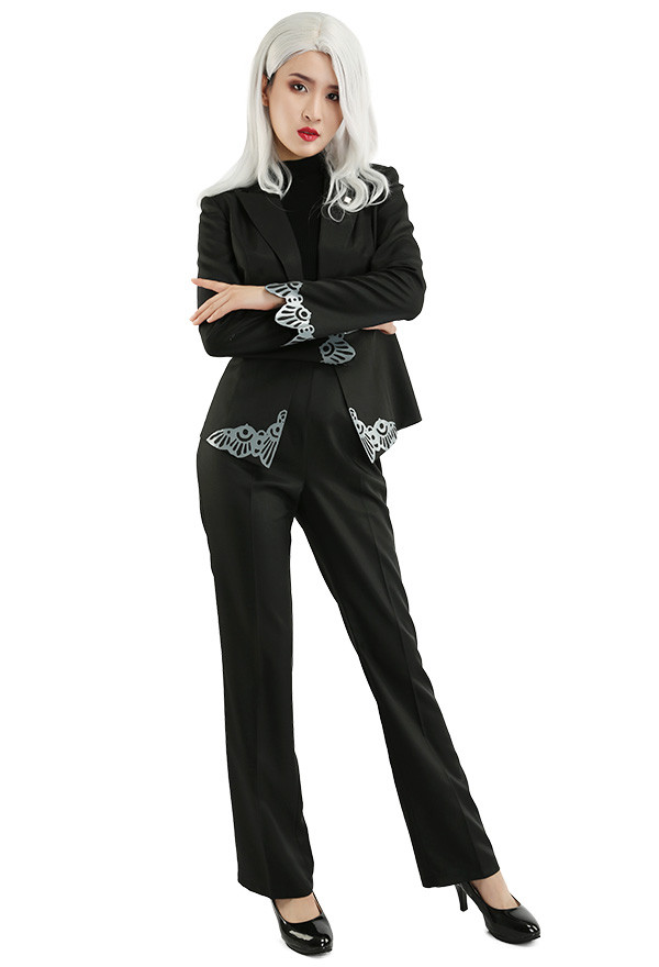 Persona 5 Sae Niijima Schwarz Cosplay Kostüm Anzug