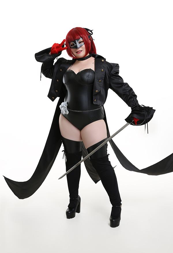 Übergröße Persona 5 Kasumi Yoshizawa Curvy Cosplay Kostüm Phantom Thieves of Hearts Body Trikot