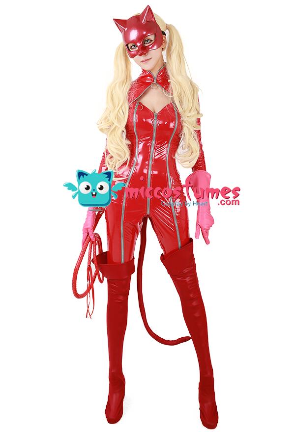 Persona 5 Panther Ann Takamaki Phantom Dieb Cosplay Kostüm Inklusive Peitsche und Stiefel decken