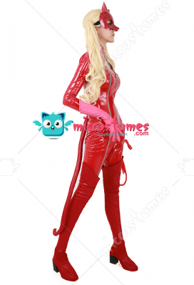 Persona 5 Panther Ann Takamaki Phantom Thief Cosplay Costume Including Mask, Whip and Boots Cover