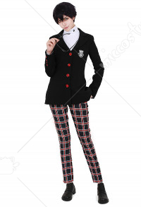 Persona 5 Protagonist Joker Akira Kurusu The Phantom Cosplay Costume School Uniform