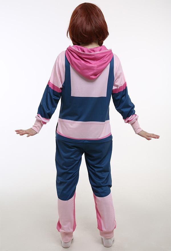 My Hero Academia Ochako Uraraka Cosplay Kostüm Pink Onesie Homewear Kigurumi Pyjama Cosplay Kostüm