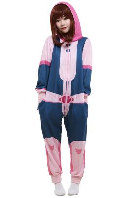 My Hero Academia MHA Ochako Uraraka Printed Sleepwear Homewear Zentai Bodysuit  Cosplay Costume Outfit