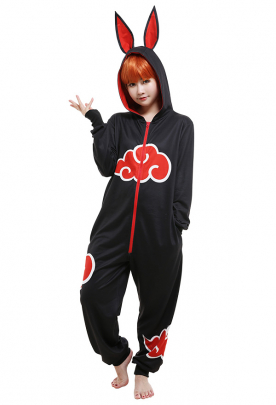 Japanese Style Cloud Pattern Onesie Pajama One Piece Sleepwear Cosplay Costume Kigurumi Outfit with Tail