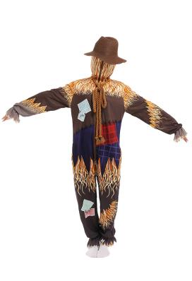 Combinaison Halloween Pyjama Une Pièce de Style Épouvantail Vêtement de Nuit à Manches Longues