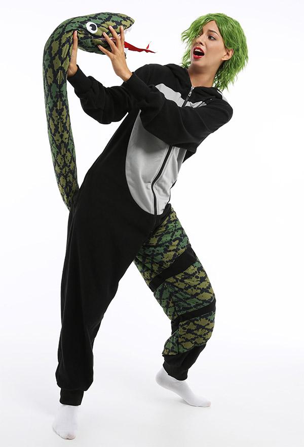 Python Gorilla Overall mit Kapuzen Pyjamas Lange Arm Jumpsuit Kostüm Halloween Anzug