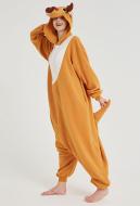 Kigurumi Reindeer Onesie Pajama Yellow Cartoon Animal Polar Fleece Male Female Animal Costume