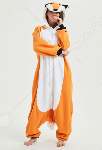 Kigurumi Mr Fox Onesie Pajama Cartoon Animal Polar Fleece Male Female Autumn Winter Animal Costume