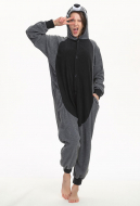KigurumiGrey RaccoonOnesie Pajama Cartoon Animal Polar Fleece Male Female Animal Costume