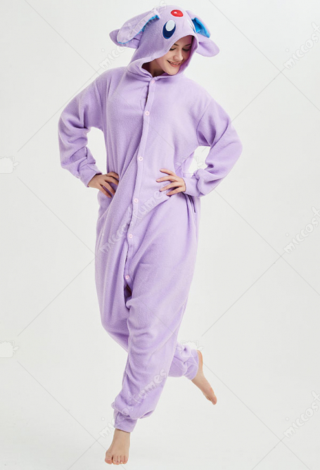 Kigurumi Purple Night Elf Onesie Pajama Cartoon Polar Fleece Homewear Male Female Animal Costume