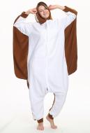 Kigurumi Dark Brown Flying Squirrel Onesie Pajama Cartoon Animal Polar FleeceHomewear Animal Costume