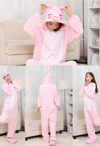 Little Pig Cute Warm Kigurumi Pajamas Flannel Costume for Adults and Kids