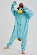 Kigurumi Platypus Onesie Pajama Cartoon Animal Polar Fleece Male Female Animal Costume