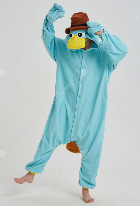 Kigurumi Platypus Onesie Pajama Cartoon Animal Polar Fleece Male Female Animal Costume