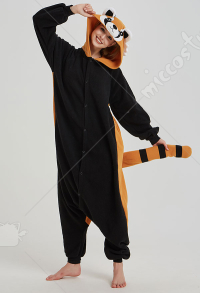 Kigurumi Little Raccoon Onesie Pajama Cartoon Animal Polar Fleece Male Female Animal Costume
