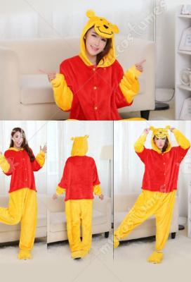 Hot Winnie The Pooh Unisex Adult Animal Cosplay Costume Kigurumi Onesie0 pajamas
