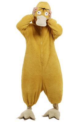 Combinaison Pyjama Psyduck Automne Hiver pour Femme Halloween Partie