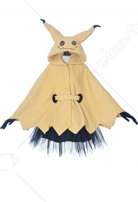 Pokémon Pikachu Mimikyu Halloween Cloak Dress Costume for Adults