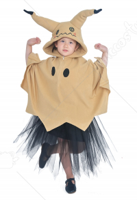 Child Pokémon Pikachu Mimikyu Halloween Cloak Dress Costume for Kids