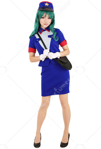 Officer Jenny Cosplay Costume Dress Uniform with Hat and Bag