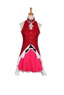 Puella Magi Madoka Magica Kyoko Sakura Transformed Battle Suit Cosplay Costume