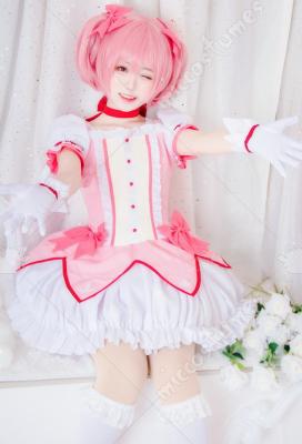 Puella Magi Madoka Magica Cos Kaname Madoka Cosplay Costume Dress