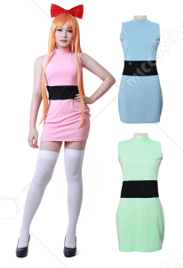Girls Blossom Bubbles Buttercup Erwachsene Cosplay Kostüm