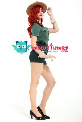 Park Ranger Jessica Rabbit Cosplay Costume with Hat
