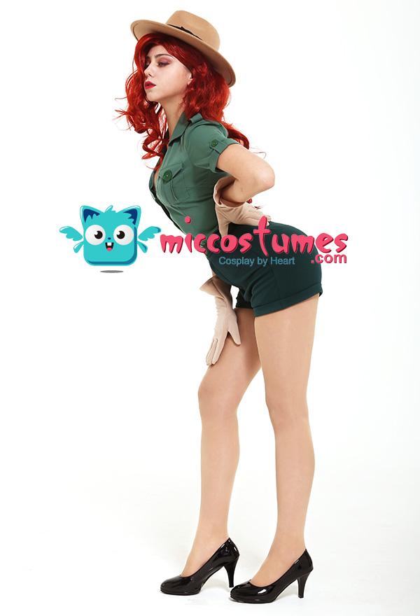 Park Ranger Jessica Rabbit Cosplay Kostüm mit Hut